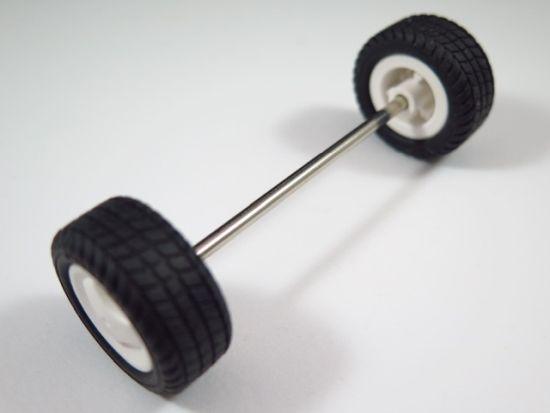 Playmobil 1 x Achse Reifen Felge weis Räder Rad 10,8 cm breit Reifen 44x19//1 #17